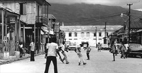 Young boys playing soccer  - Haiti
